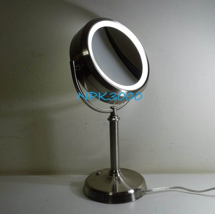 Espejo de tocador ba o luz led blanca doble cara lupa 10x en mercado libre - Espejos de tocador con luz ...