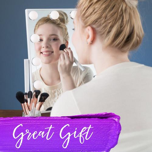 espejo de tocador de estala hollywood con luces - espejo de