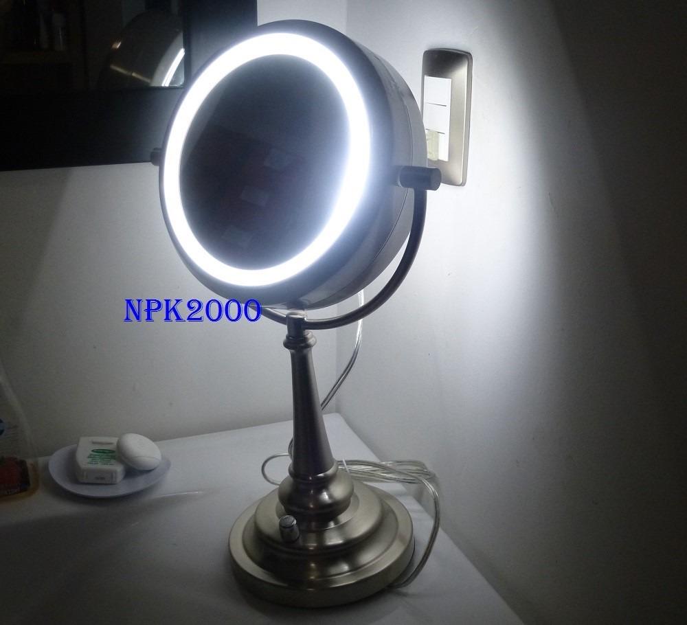 Espejo de tocador doble cara luz natural 1x 10x 120v - Espejos de tocador con luz ...