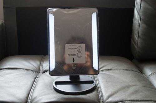 espejo de tocador luz led pantalla tactil ajustable