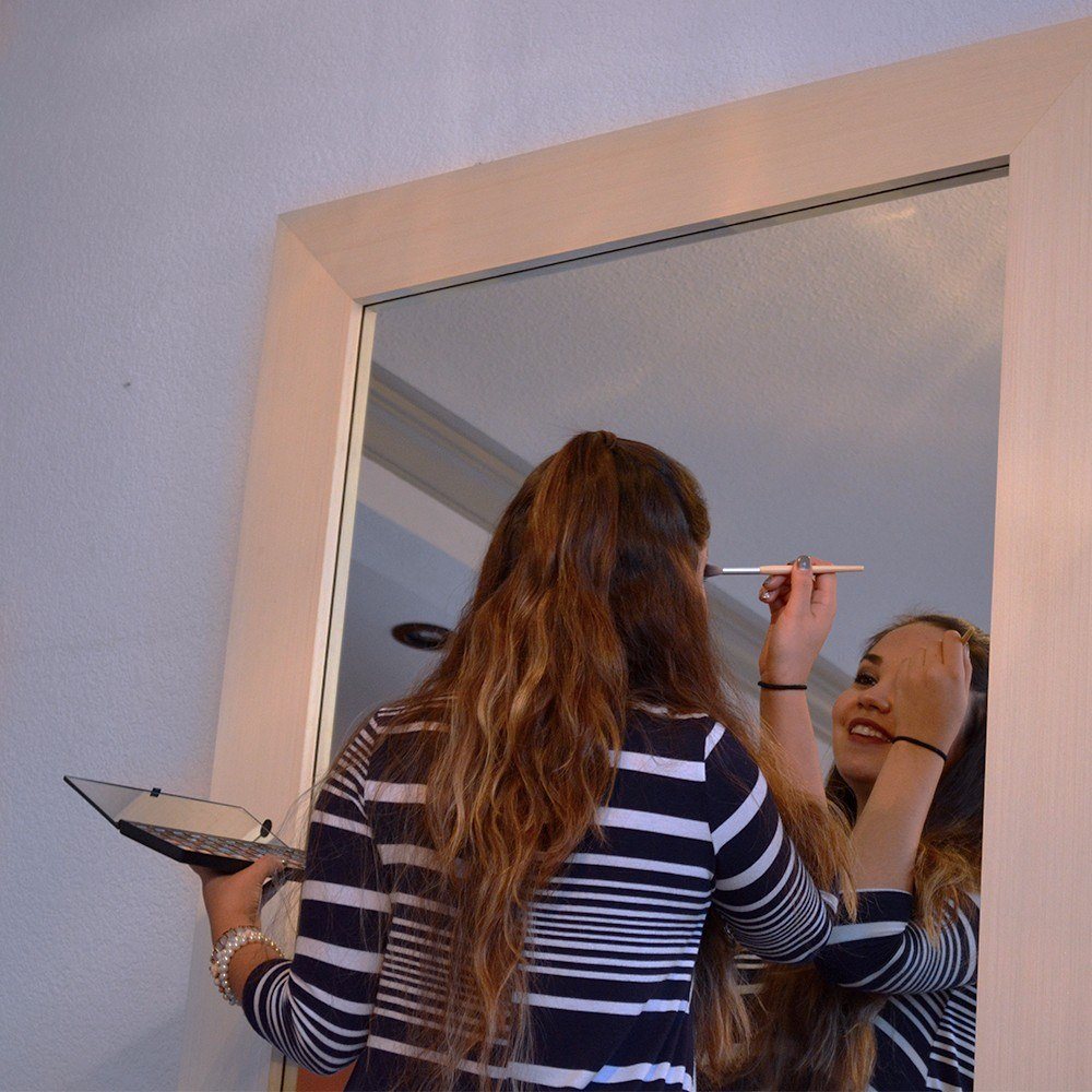 Espejo decorativo cuerpo completo marco de madera for Espejo cuerpo entero