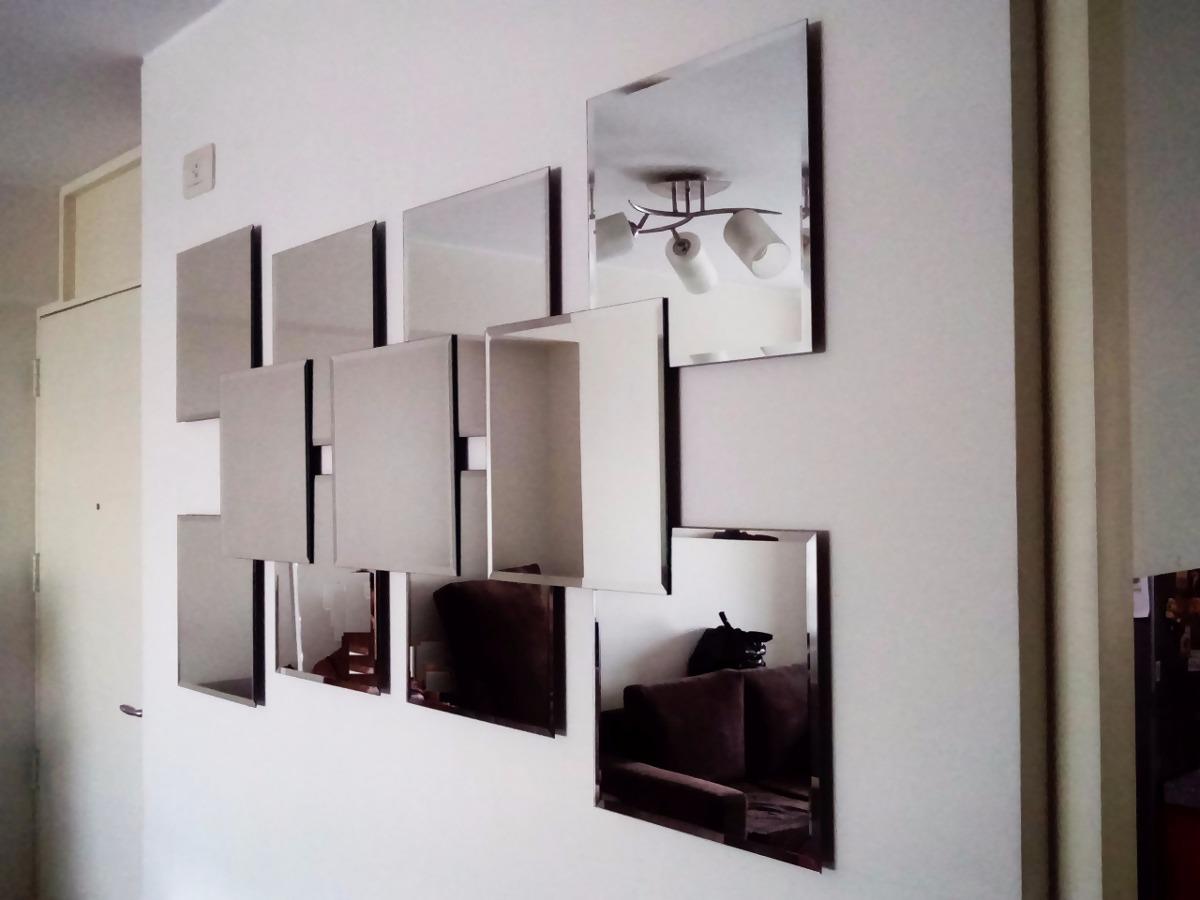 Espejo decorativo moderno s 450 00 en mercado libre for Espejos biselados para sala