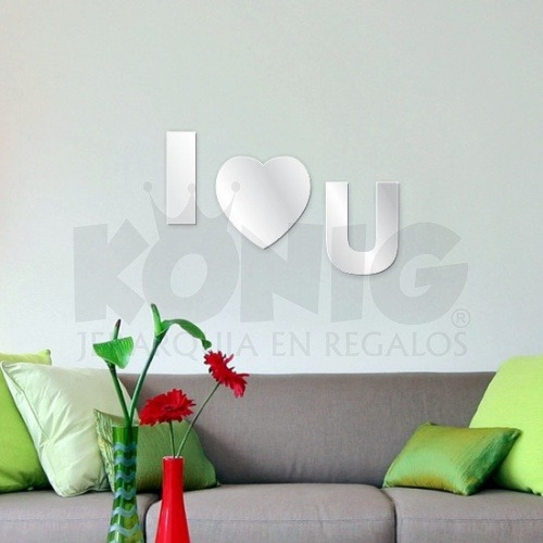 espejo decorativo moderno originales unico barato i love you