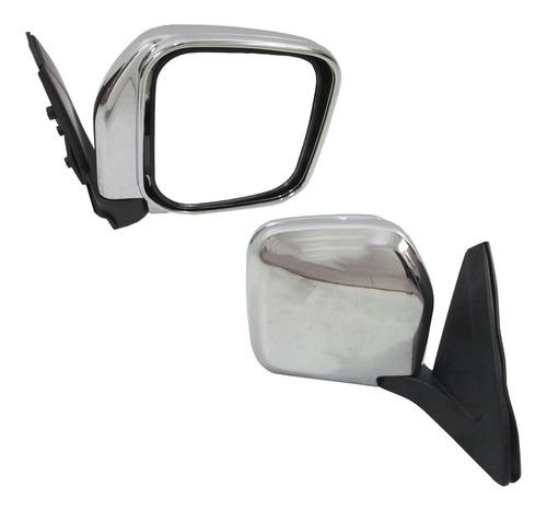 espejo der manual cromado mitsubishi montero pajero tw