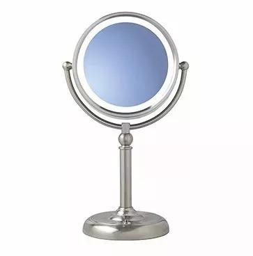 Espejo doble de tocador maquillaje con aumento 10x luz led for Espejo aumento con luz