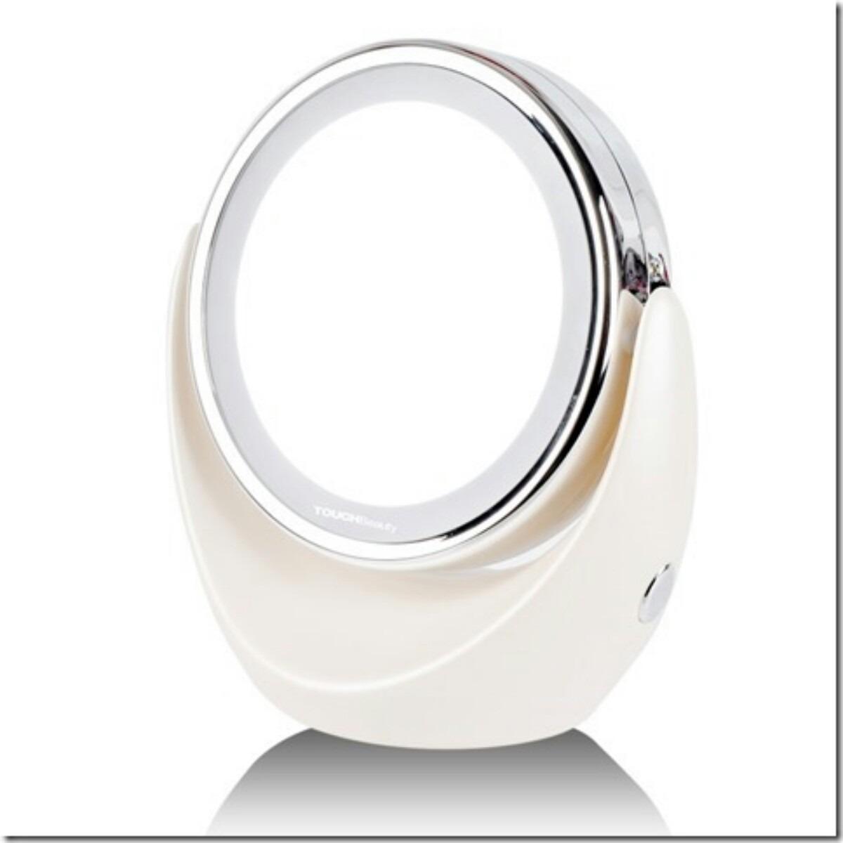 Espejo doble faz c luz led espejo con aumento x1 y x5 for Espejo aumento con luz