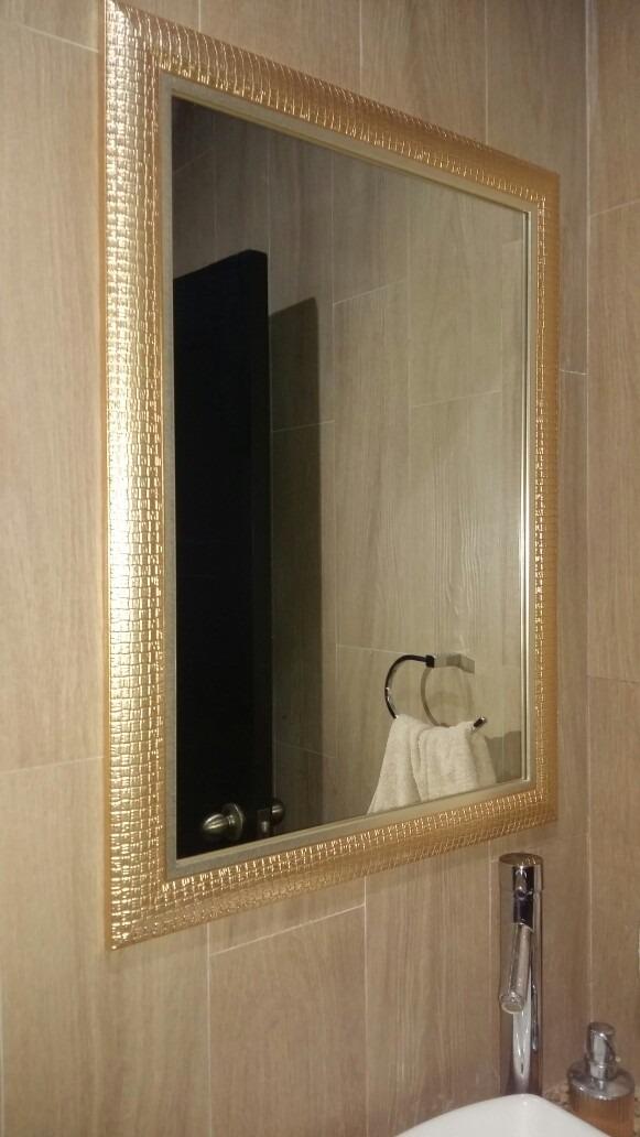 Espejo dorado sala dormitorio ba o 60 x 80 u s 155 00 en for Espejo 140 x 80