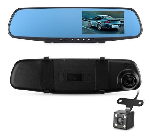 espejo dvr con camara delantera y camara de reversa pantalla