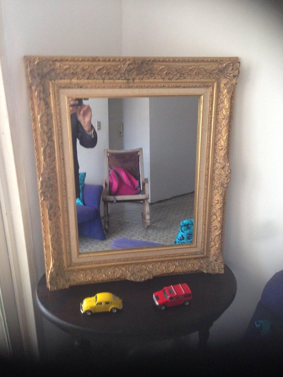 Espejo En Marco Dorado - Bs. 2.628.500,00 en Mercado Libre