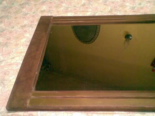 espejo en pana y bronce - 70 x 50