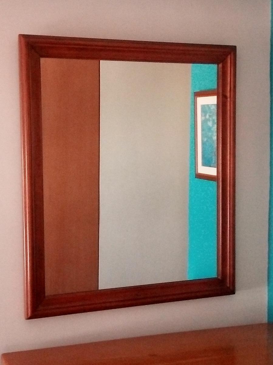 Espejo Enmarcado En Madera - Bs. 45.000.000,00 en Mercado Libre