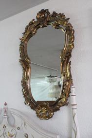 Arte Y Antigüedades Espejos Espejo Marco De La Barroco Hoja Oro En Madera Da 50 Cm