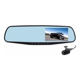 Espejo Grabador C/ Pantalla Marcha Atras Y 2 Camaras Hd Dvr