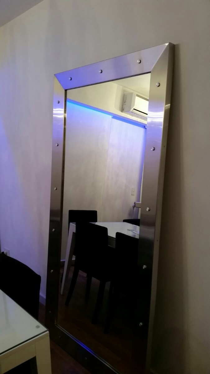Espejo Grande Marco Acero Inoxidable Moderno Y Diseño. - $ 19.000,00 ...