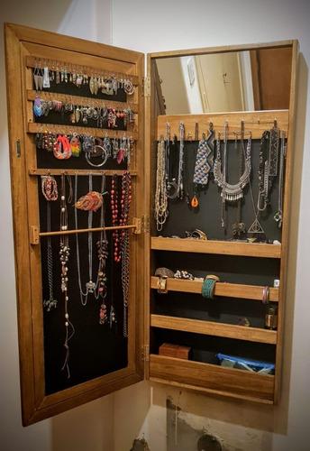 espejo joyero excelente calidad,organizador, placard para joyas 1.20 x 40 x 11 maquillaje,cremas y perfumes  todoespejos