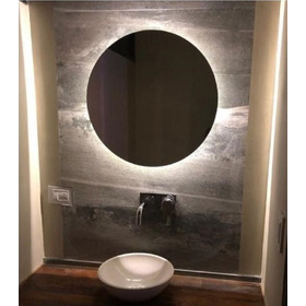 Espejo Luz Led 70 Cm Diam Redondo Para Baño Accesorios Caba