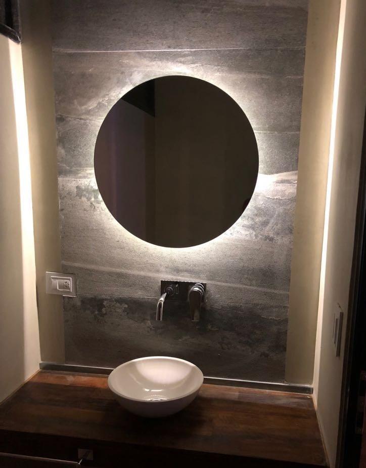 Espejo Luz Led 70 Cm Diam Redondo Para Bano Accesorios Caba - Espejos-redondos-para-baos