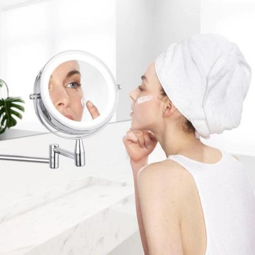 espejo maquillaje rostro con brazo móvil