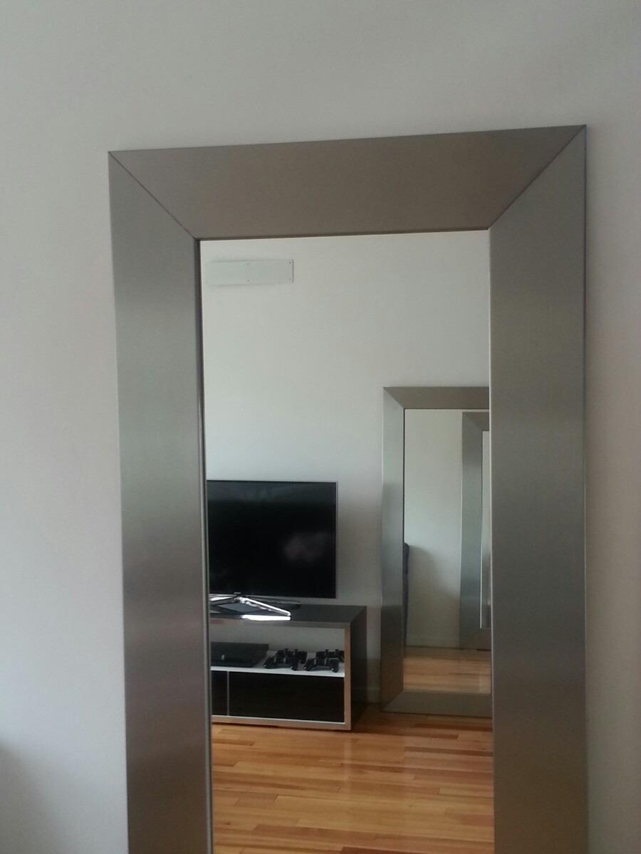 Espejo Marco Acero Inox - $ 16.400,00 en Mercado Libre