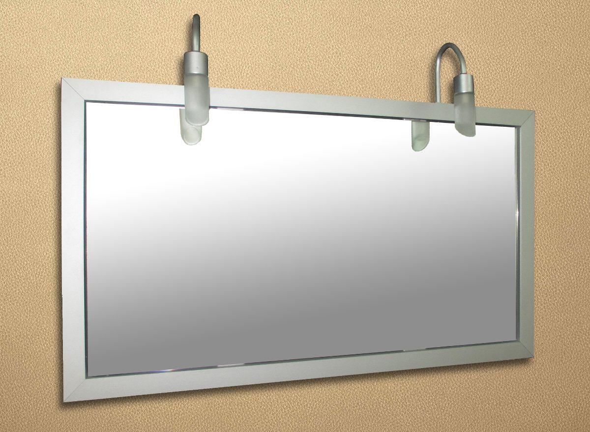 Espejo Marco De Aluminio Con Dos Luces Marca Versailles - $ 700,00 ...
