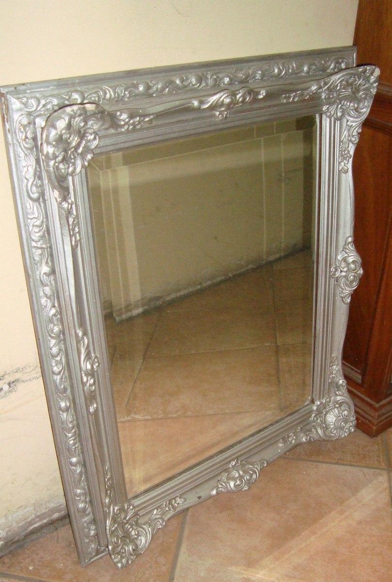 Espejo Marco Frances Cristal Biscelado Madera Molduras - $ 5.999,00 ...