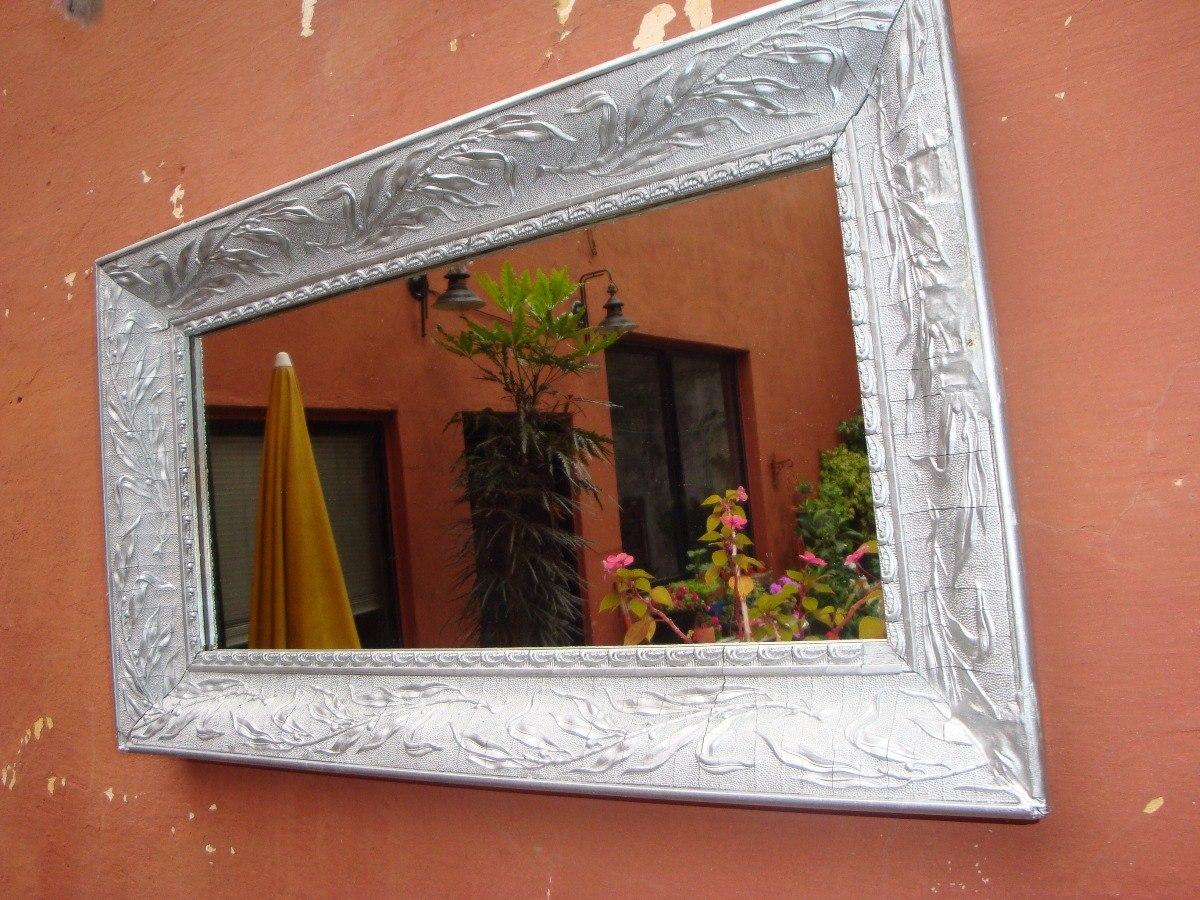 Espejos Marco Plateado. Espejo Marco Plateado Impecable. Espejo Con ...