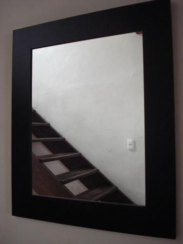 Espejo marco liso patinado en negro en - Espejo marco negro ...