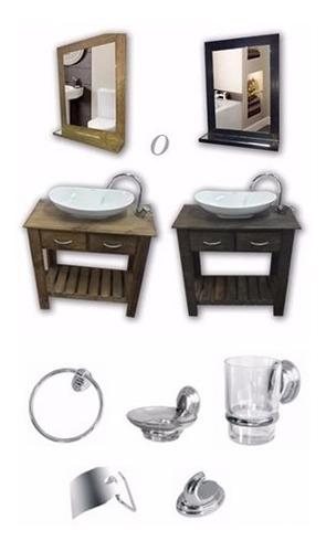 espejo marco madera 60 x 40 comedor  living baño habitacion