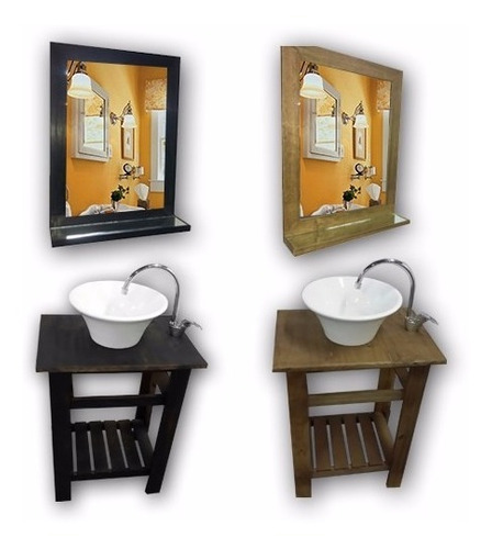 espejo marco madera 60 x 50 living comedor baño habitacion