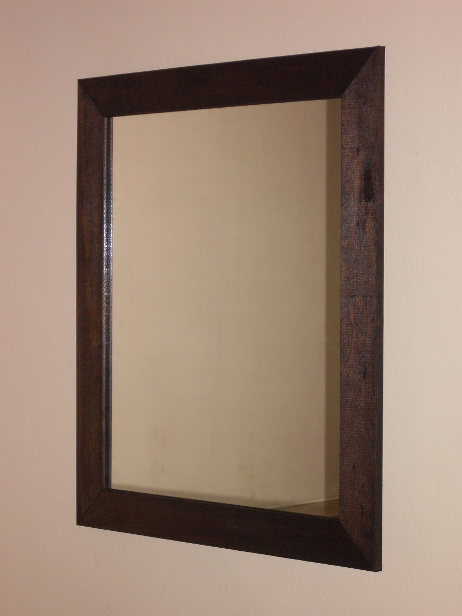 espejo marco madera x decoracion grande pared living