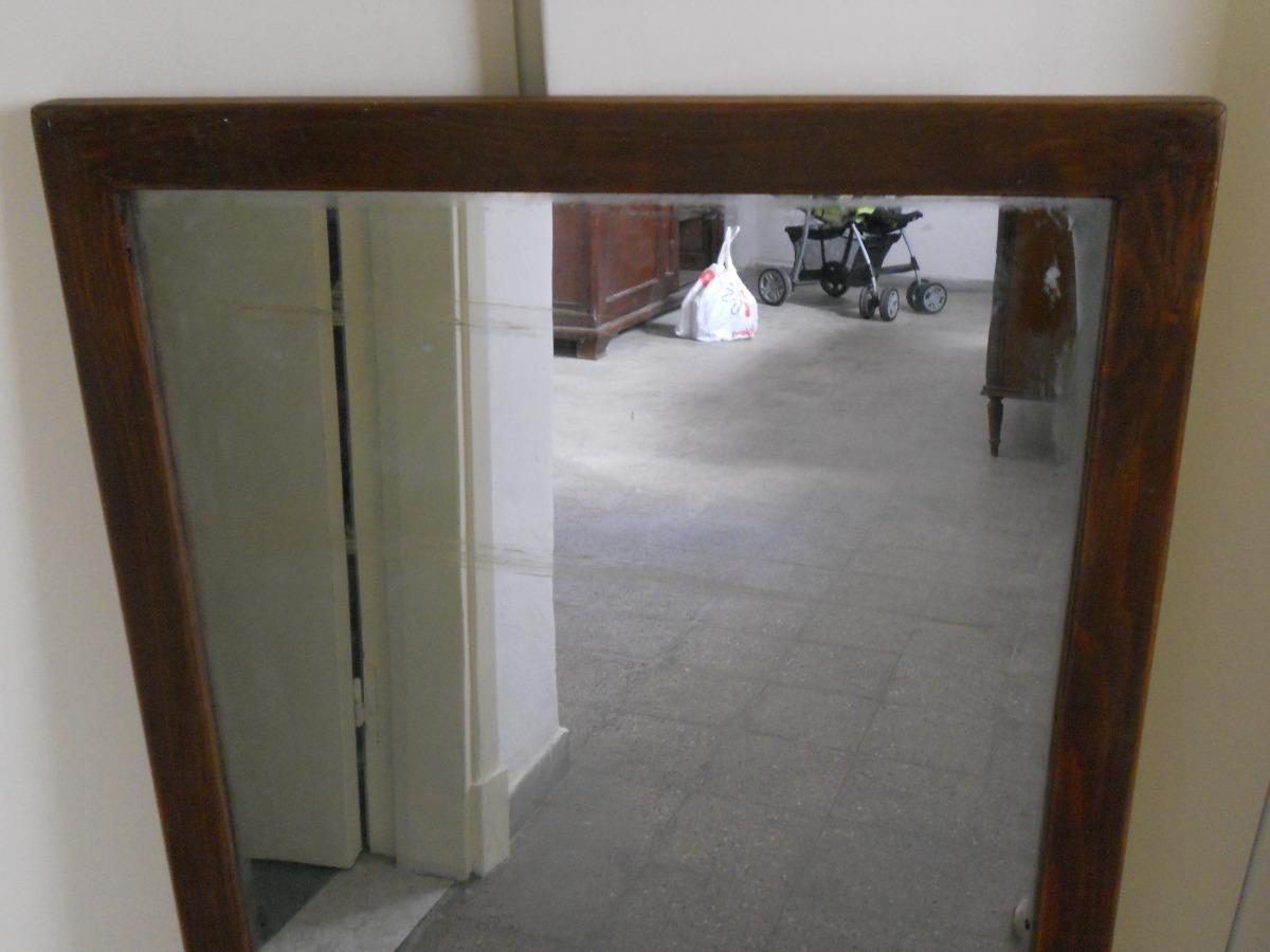 Espejo con marco madera buen estado mide 101cm por 50 for Espejo marco madera