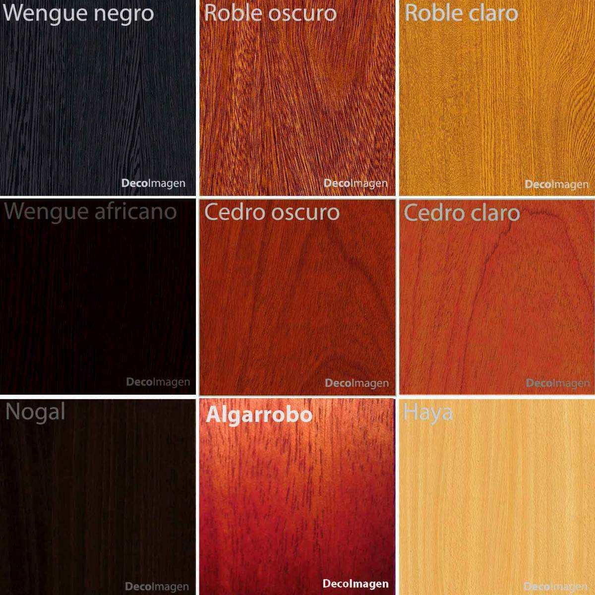 Color madera roble cheap mesa madera con patas de hierro for Colores de madera