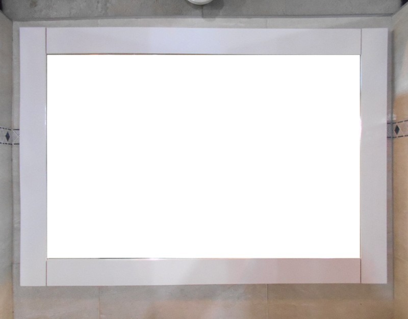 Espejo Marco Madera Blanco 100x70 Decoración Habitación Baño ...