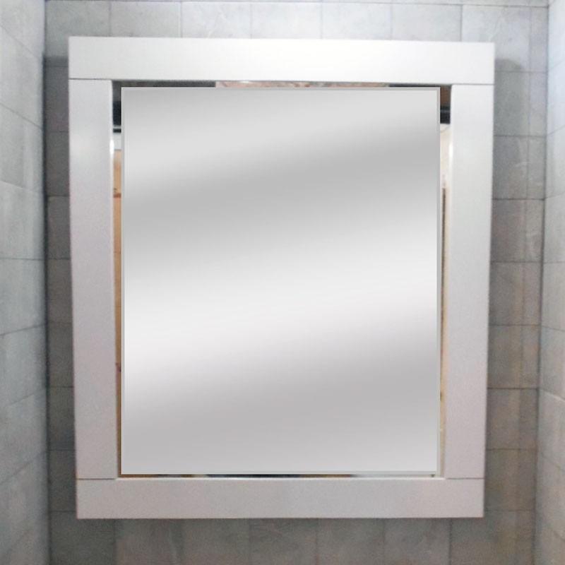 Espejo Marco Madera Blanco 80x70 Decoración Habitación Baño ...