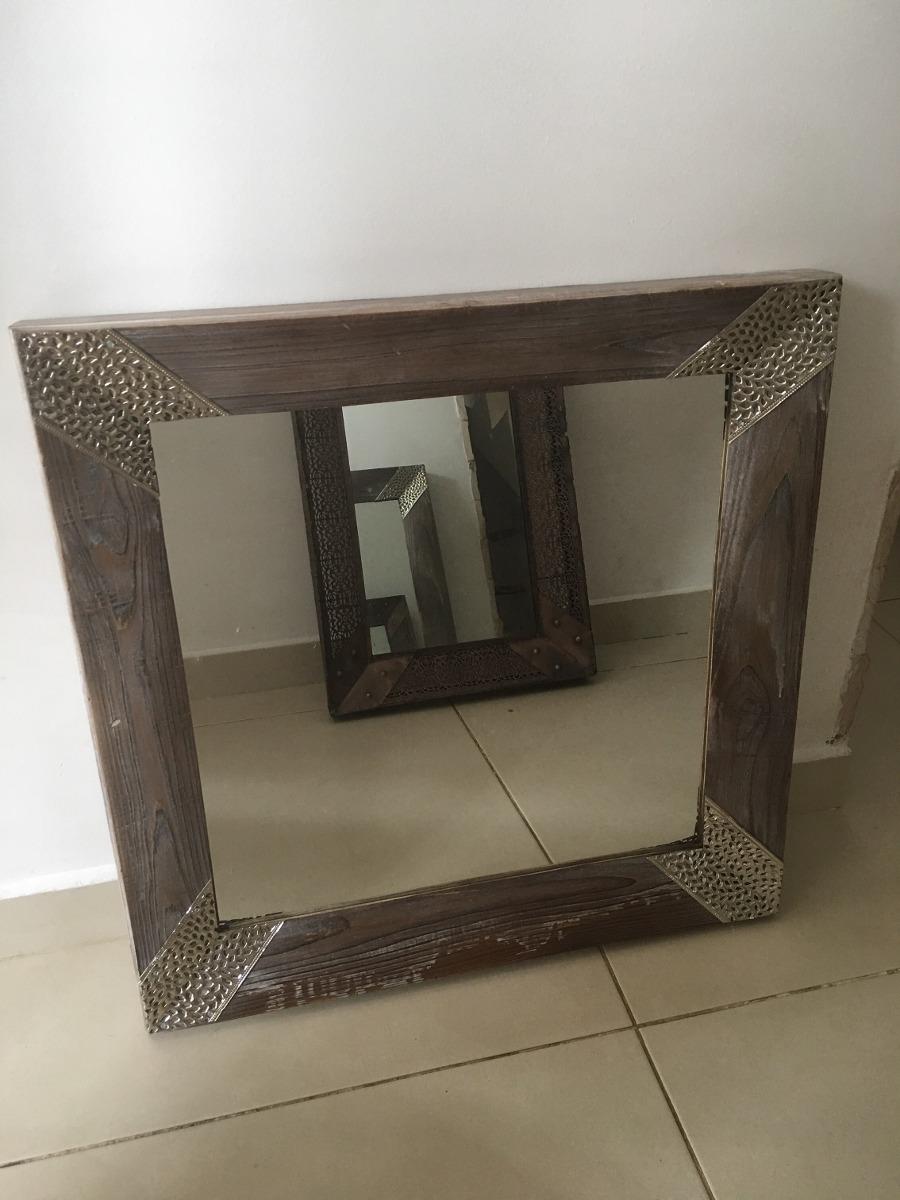 Espejo Marco Madera Rustico Decorativo 60 X 55 Cm - $ 500,00 en ...