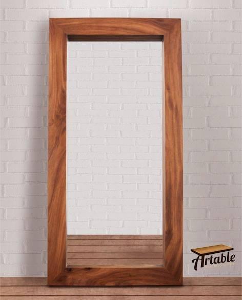 Espejo marco madera solida parota 2m altura x 1m ancho for Espejo marco madera