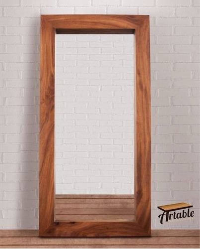 espejo marco madera solida parota 2m altura x 1m ancho