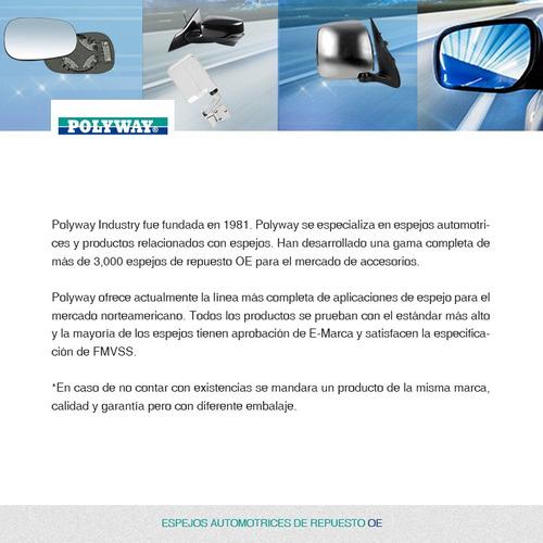 espejo mecanico p/pintar nissan march 2012 2013 2014 2015