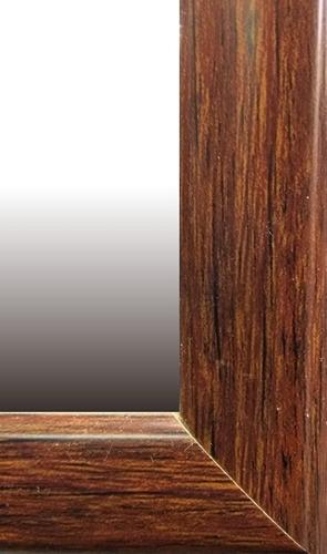 espejo minimalista decoración marco imitación madera 95x35cm