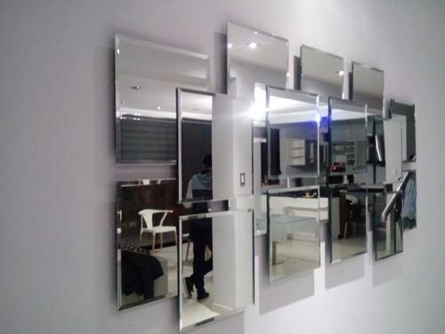 espejo moderno de 18 piezas