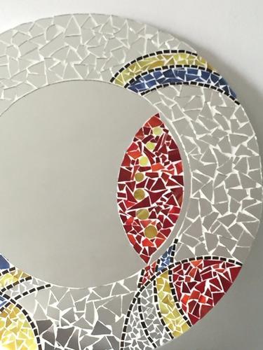 espejo moderno decorativo recamara sala vitromosaico