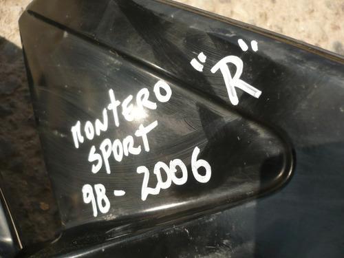 espejo montero sport 2002 der dañado - lea descripción