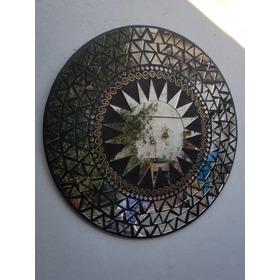 Espejo Mosaicos Deluxe 60 Cm De Diám. Importado Indonesia