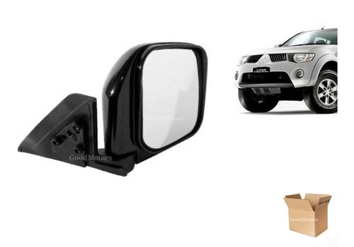 espejo negro manual mitsubishi l200 2006 - 2013 derecho rh