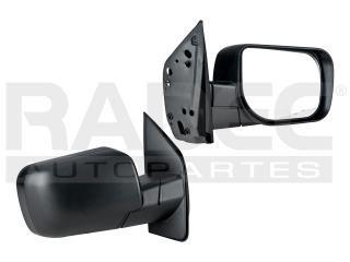 espejo nissan titan 2007-2008-2009 manual corrugado negro
