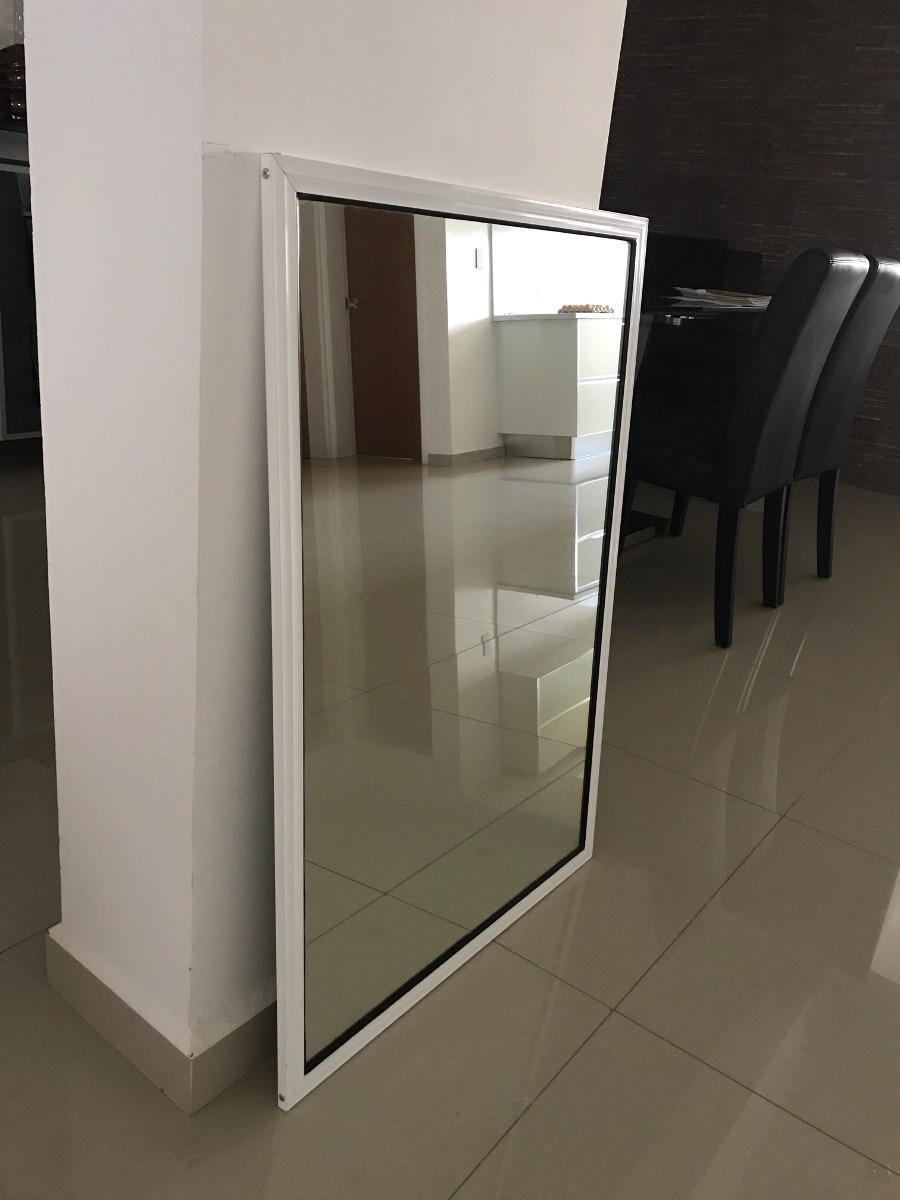 Espejo nuevo con marco de aluminio de 1 m de altura bs 0 49 en mercado libre - Pulir llantas de aluminio a espejo ...
