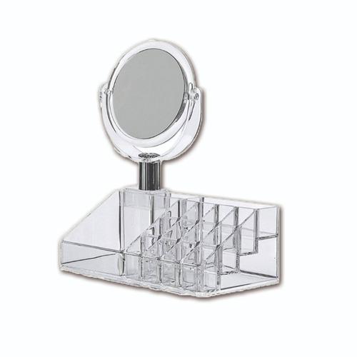 espejo organizador para maquillaje tipo cristal cosméticos