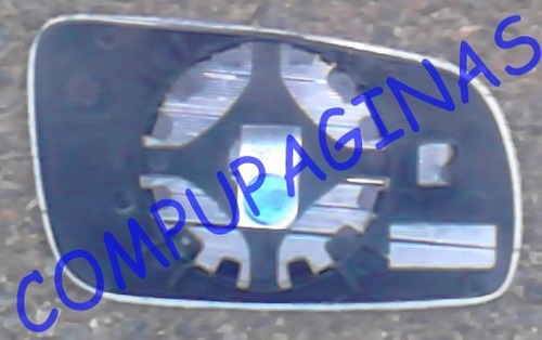 espejo original vw gol power placa y vidrio marca metagal de