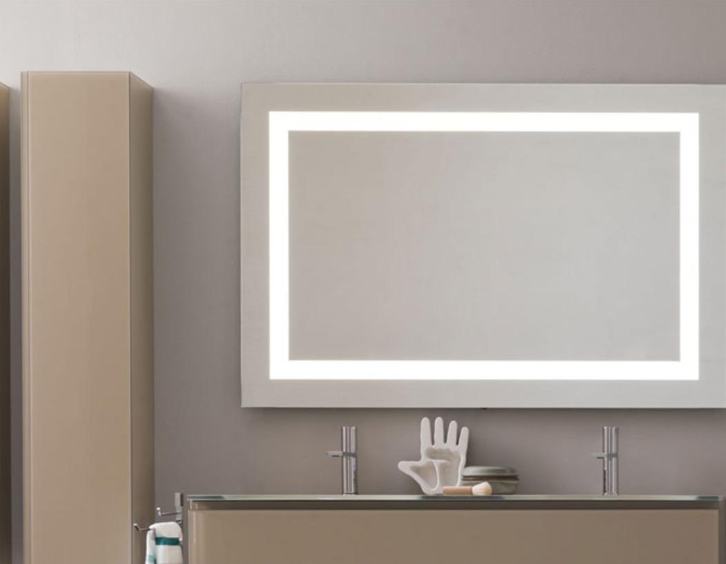 Espejo para ba o con luz integrada led kand marco 90x70cm for Espejos con luz integrada