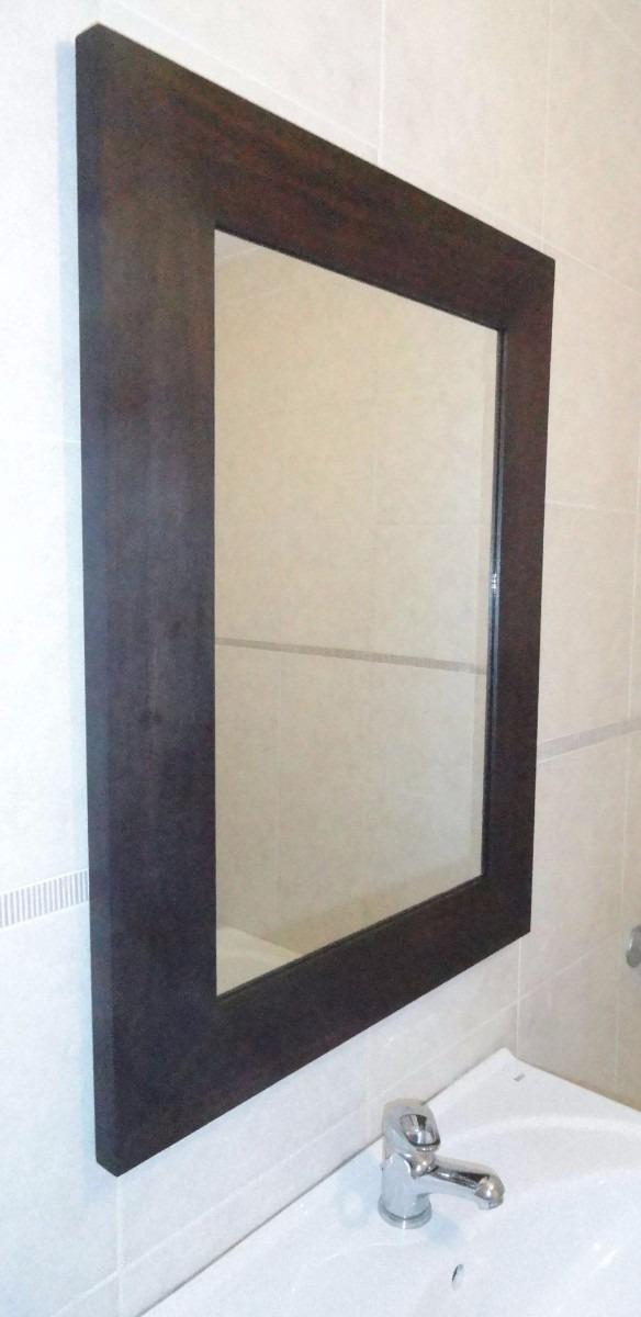Espejo Con Marco Wengue 50x70x6 Ideal Para Baño / Decoracion ...